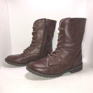 Girls Cherokee chocolate brown boots size 12